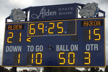 Alden Football Scoreboard