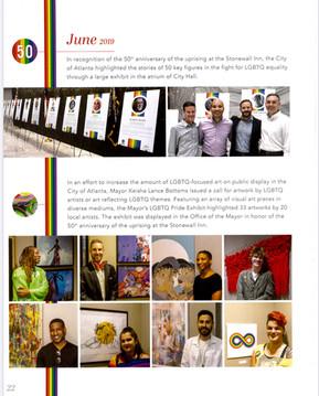 June 2019 LGBTQ Pride Exhibit (Atlanta City Hall)
