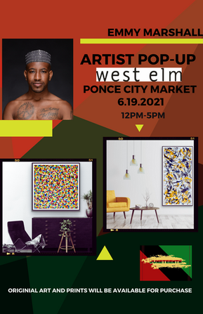Juneteenth 2021 Artist Pop-Up at West Elm Ponce