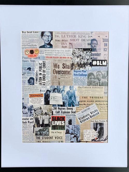 We Shall Overcome - Framed Print