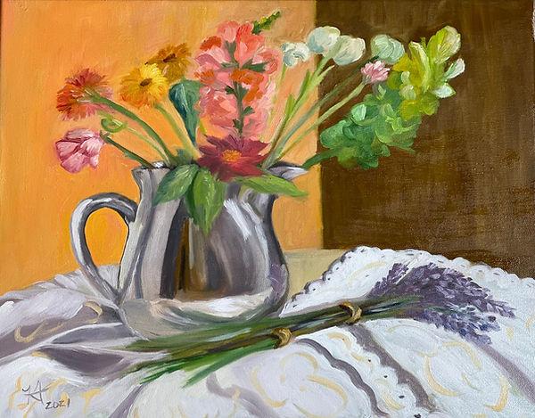 Lavender Stems Painting