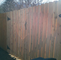 New Fence with Double Gate