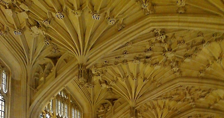 Medieval vaulted ceiling