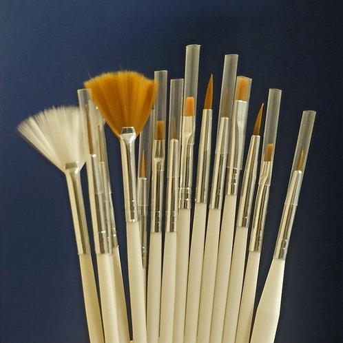 Набор кистей для декорирования 15 шт