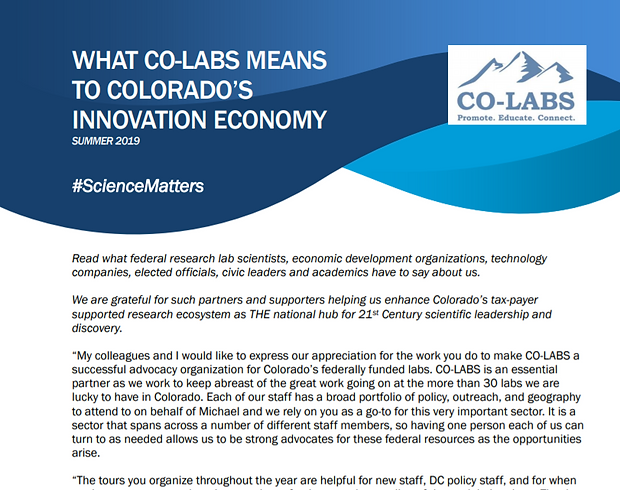What CO-LABS Means to Colorado's Innovat