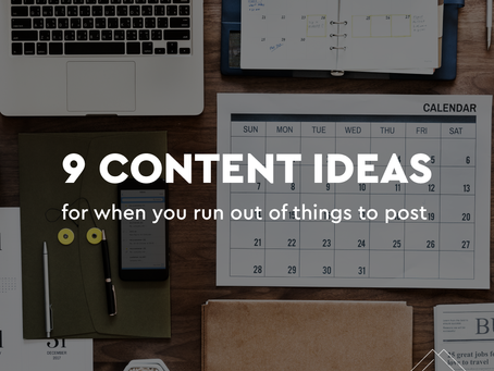 9 Content Ideas for When You Don't Know What to Post on Social Media