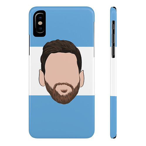 Messi for Argentina Phone Case for iPhone X and Samsung Galaxy S9