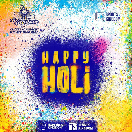 We wish you all a happy and colorful Holi!!