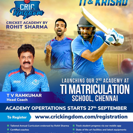 Launching our Second Academy in Chennai third in Tamilnadu