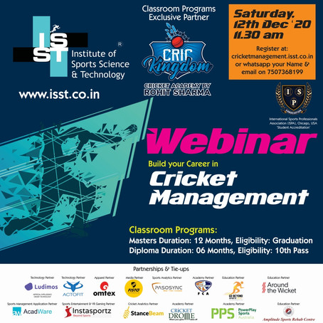 Cricket Management Zoom Webinar: