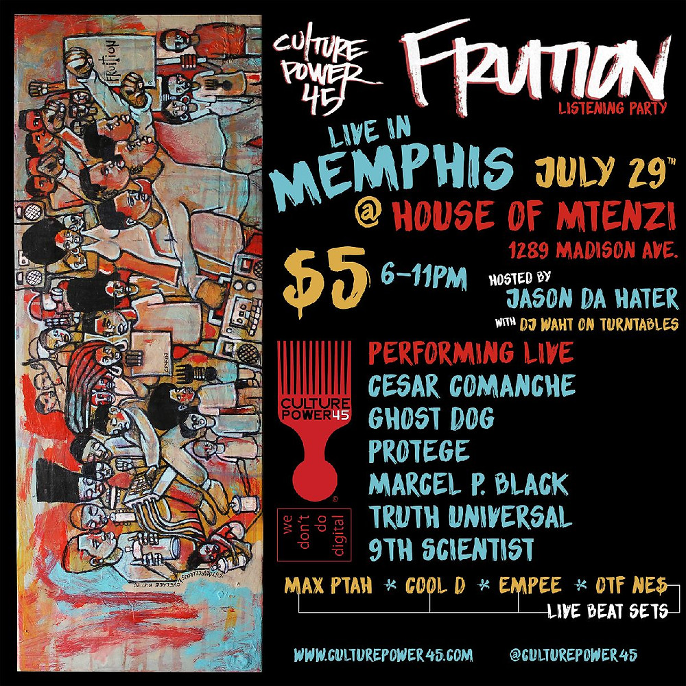 Culture Power45 Listening Party 7/29 at House of Mtenzi 1289 Madison