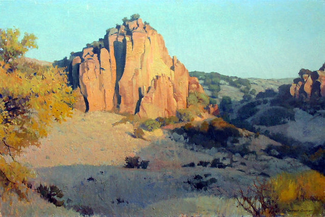 In the Davis Mountains 24x36 1989     co