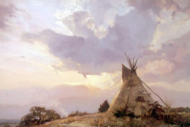Sunset (teepee) 20x30   1976.jpg