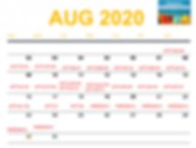 August 2020 Daily Calendar Readings