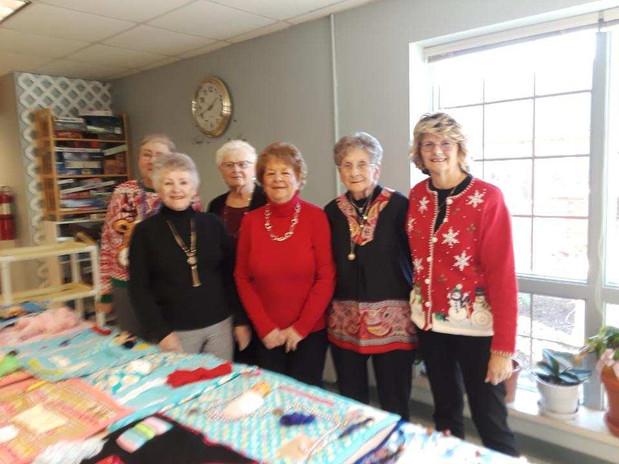 Methodist Women - Making Fidget Blankets 2019