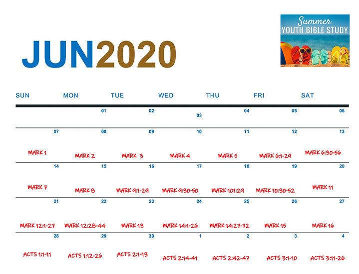 June 2020 Daily Calendar Readings