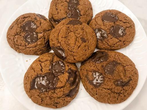 Gluten Free/Vegan Reishi Chocolate Chip Cookies