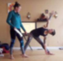 private yoga class trikonasana