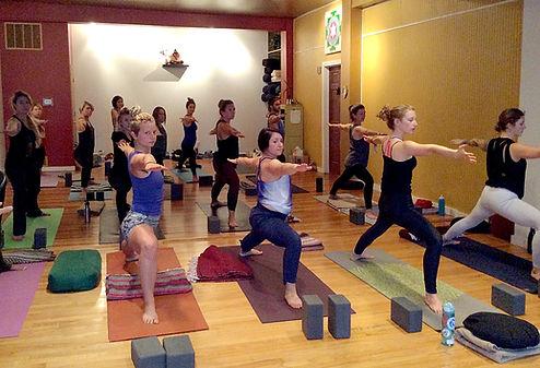 Virabhadrasana 2 beginner yoga class