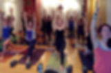 Fort Collins yoga class crescent lunge
