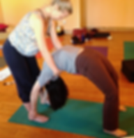 300 hour yoga teacher training Urdhva Dhanurasana adjustment