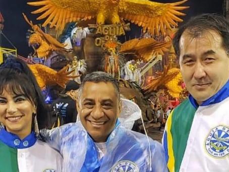 O  Cônsul-Geral do Japão em São Paulo, Yasushi Noguchi, se despede do Brasil e da Águia de Ouro.