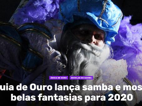 Águia de Ouro lança samba e mostra belas fantasias para 2020