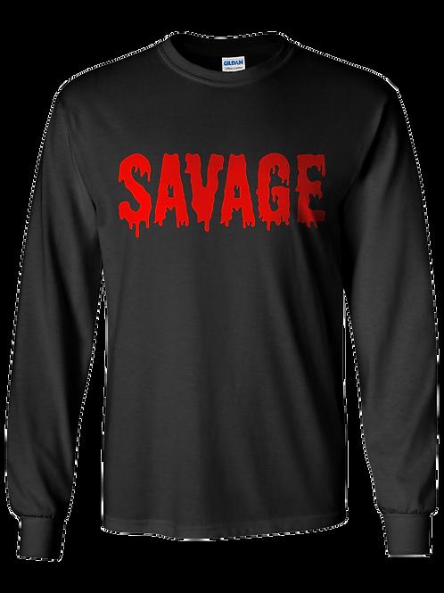 """Bloody Savage"" Long Tee"