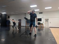 Liz Sexe and Buzz Kemper, rehearsal