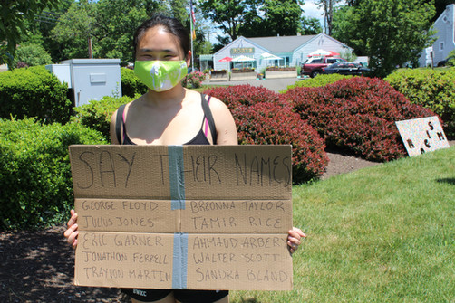 Tammy Holding Sign for BLM