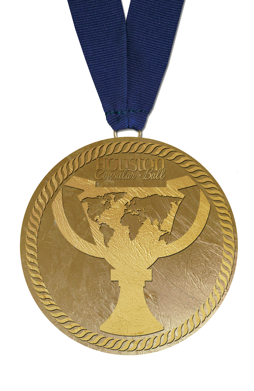 CB Medal with Front title