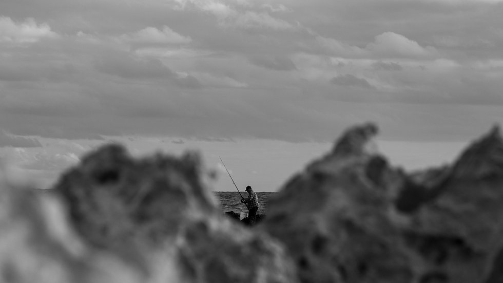 Fisherman on the Rocks, V2