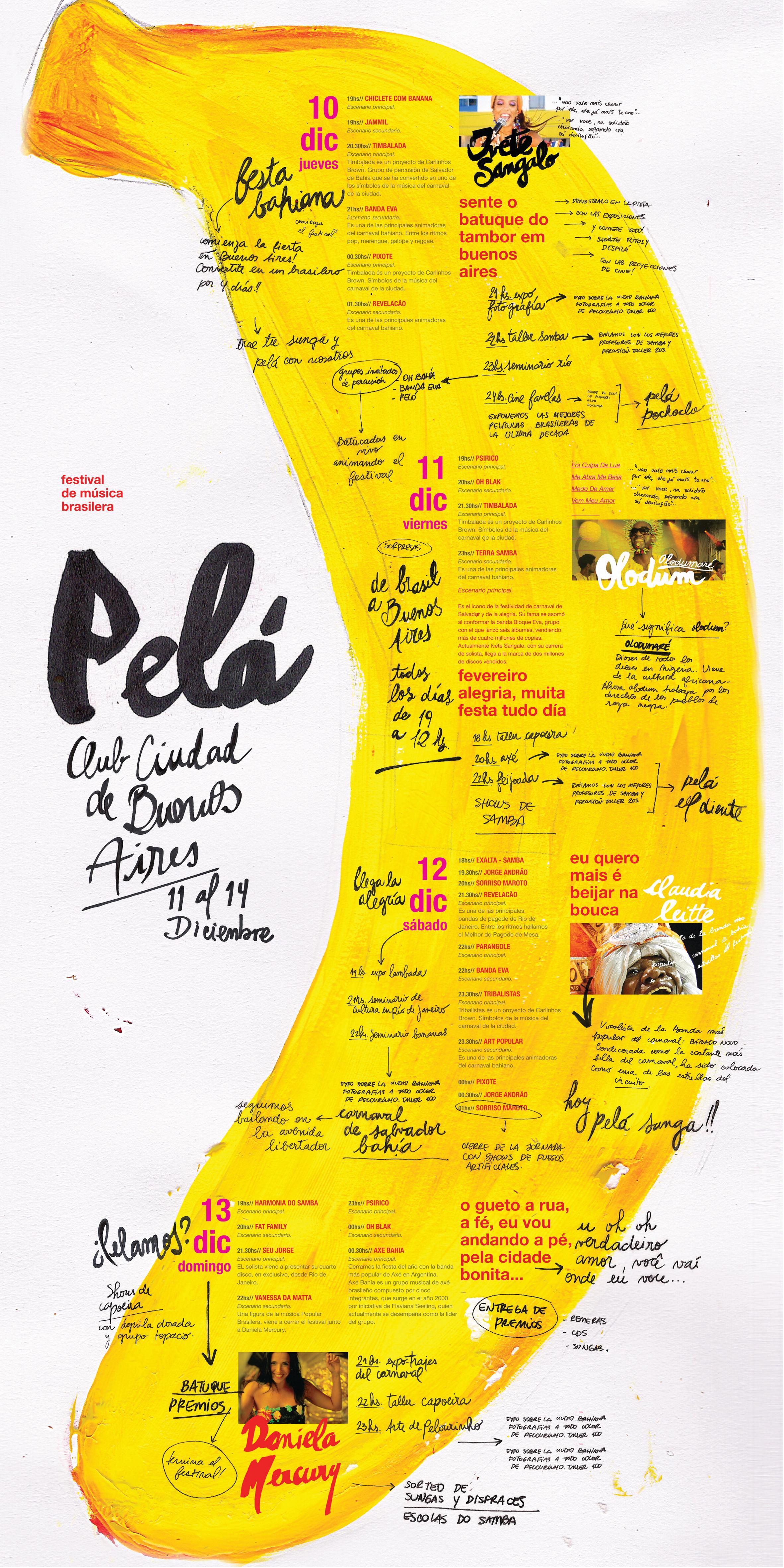 Pelá · Festival de Música Brasilera