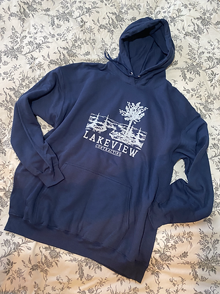 Navy Hooded Sweatshirt (extended sizes only)