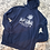 Thumbnail: Navy Hooded Sweatshirt (extended sizes only)
