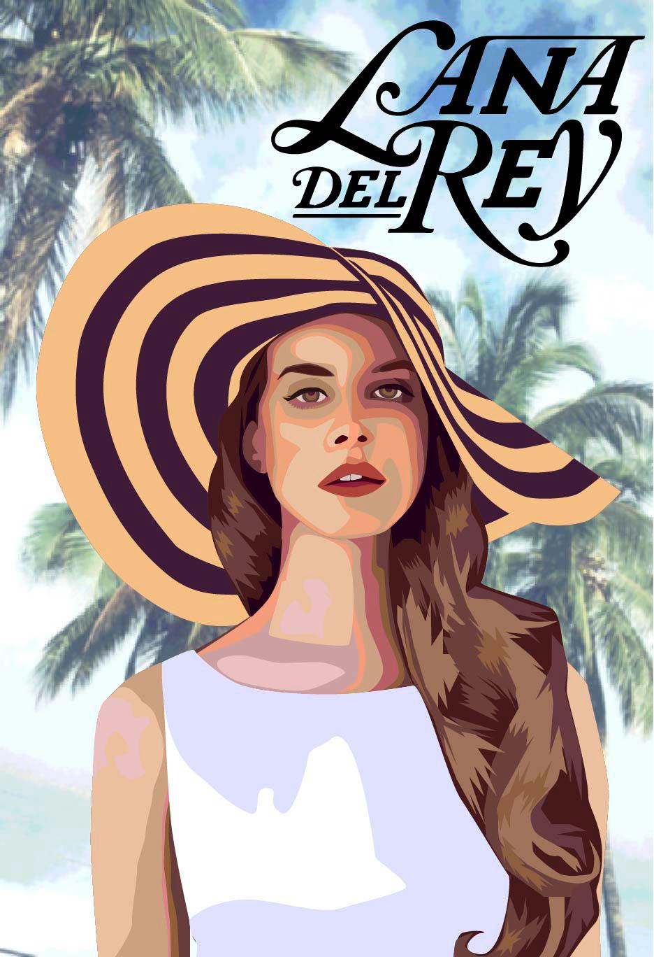 Lana Del Rey Fan Poster
