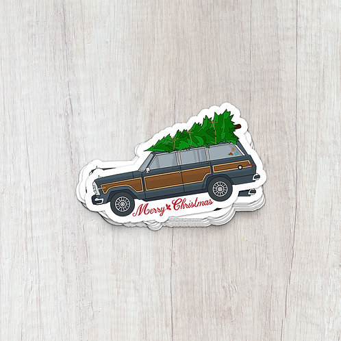 Christmas Jeep Sticker
