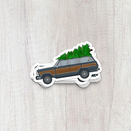 Christmas Tree on Jeep Sticker