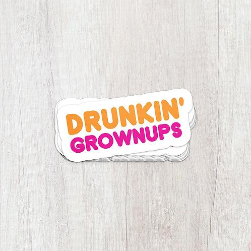 Drunkin' Logo Sticker