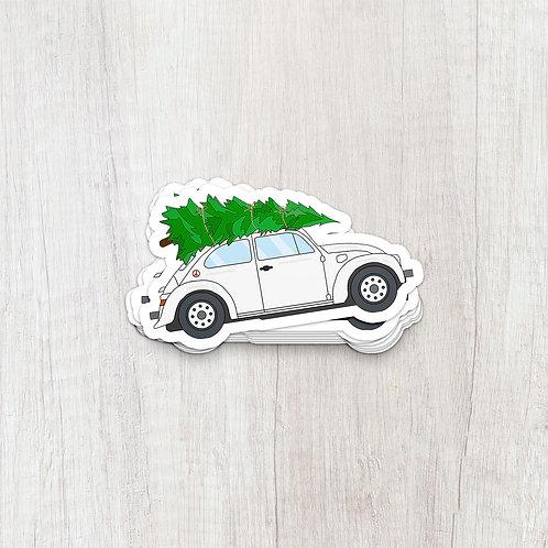 Christmas Tree on Beetle Sticker