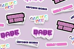 Feminist Stickers & Logos