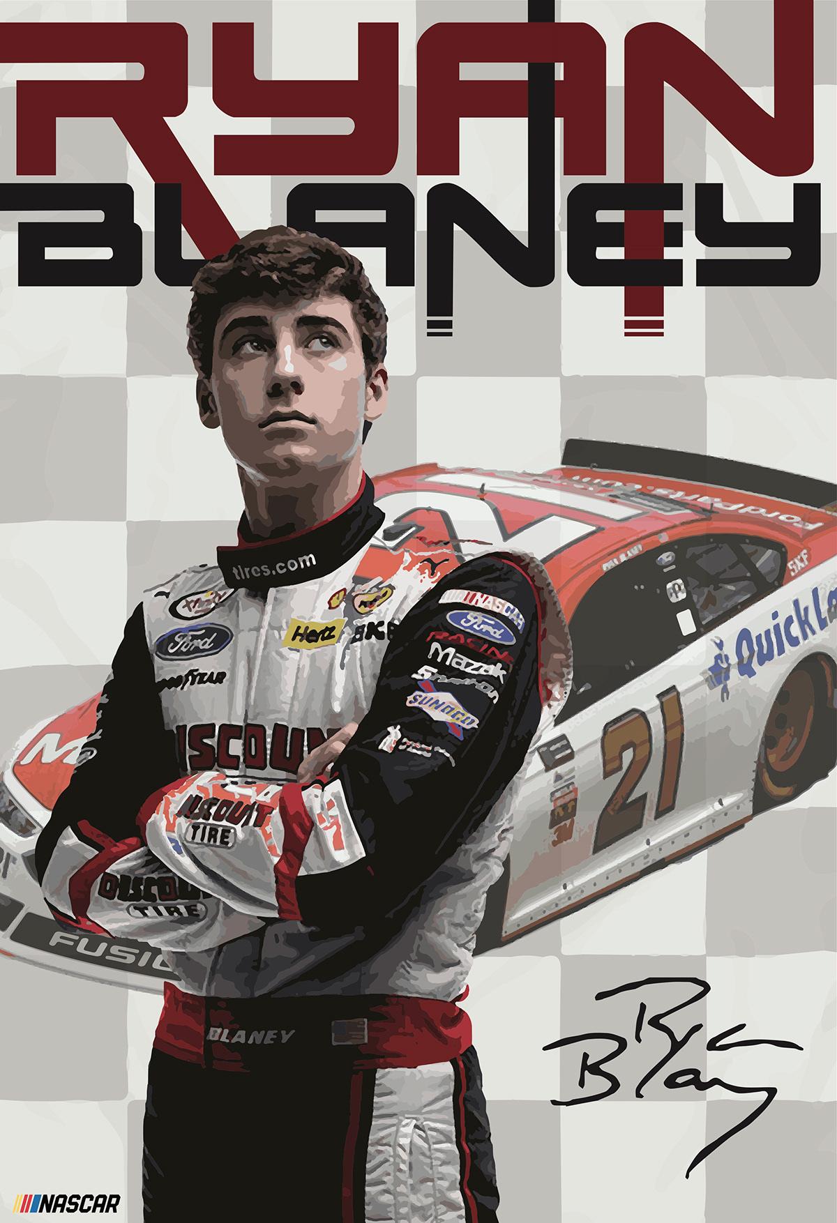 Ryan Blaney Fan Poster