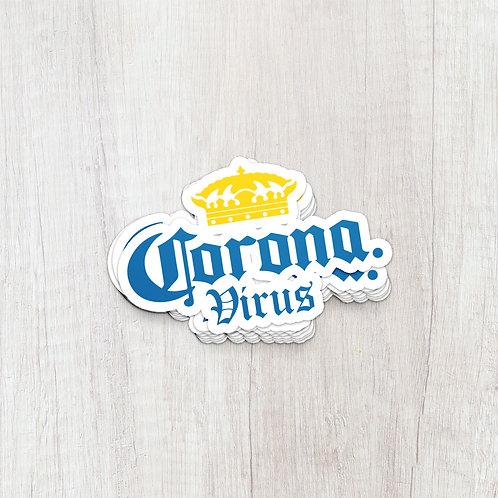 Corona Virus Sticker