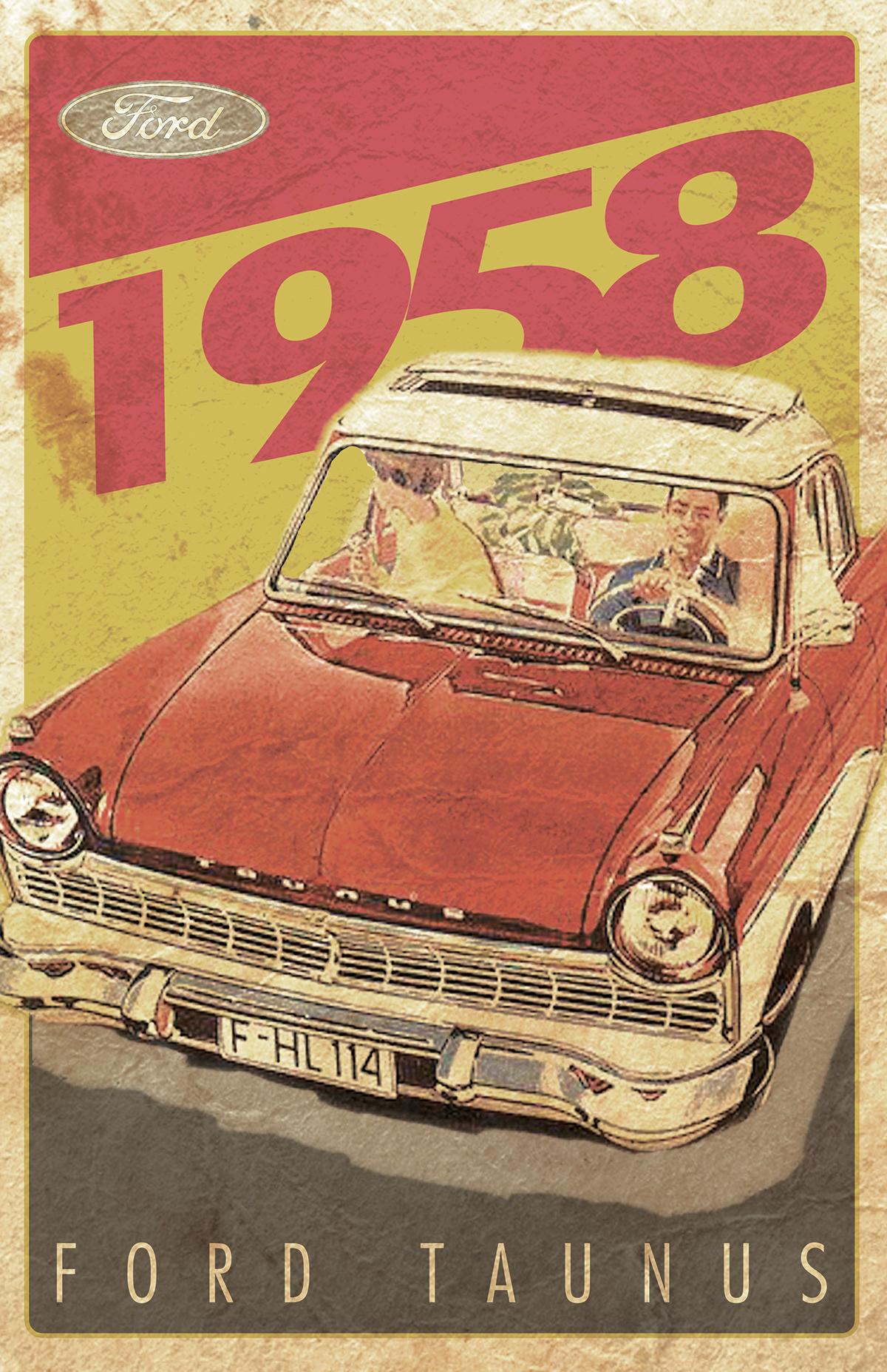 Vintage Car Poster (1)