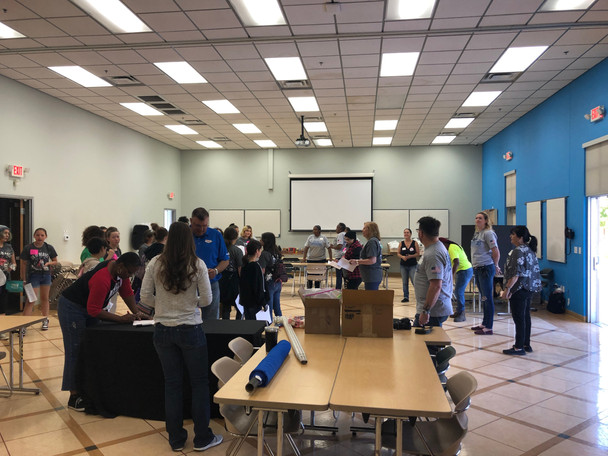 Girls Scouts draft with NAWIC