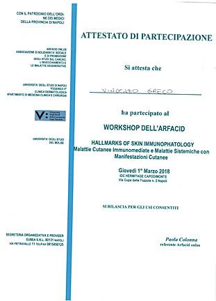 workshop dell'arfacid hallmarks of skin