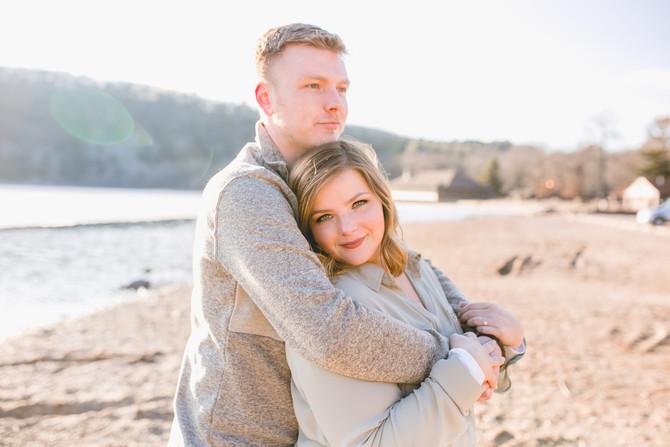 Shannon & Drew   Engagement Session   Devil's Lake State Park, WI