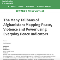 The Many Talibans of Afghanistan: Mapping Peace, Violence and Power using Everyday Peace Indicators