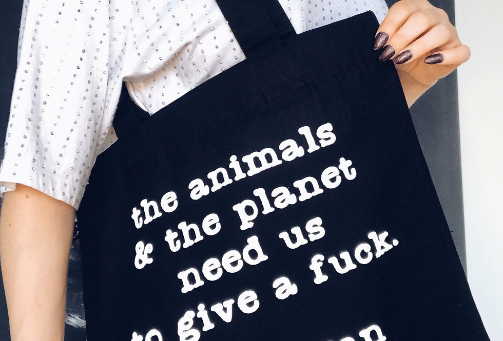 the animals & the planet tote bag