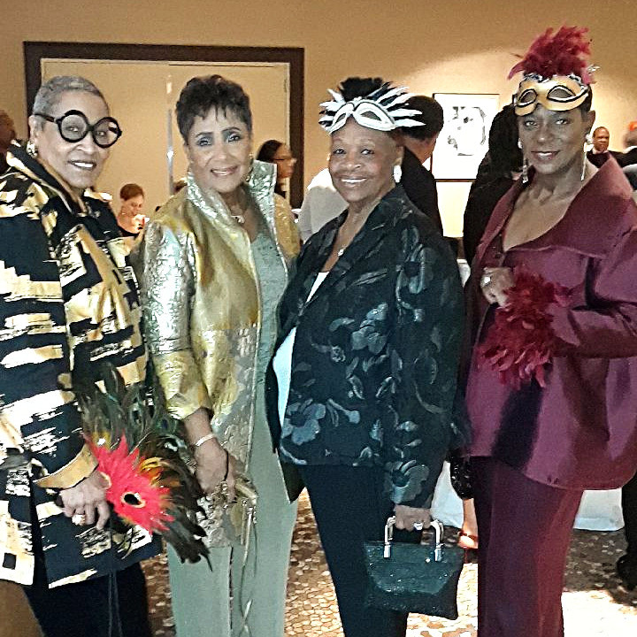 NY Dolls with Detroit Chapter Founder Roslyn Miller